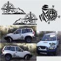 Kit Rotulacion Dakar Brujula y Montaña